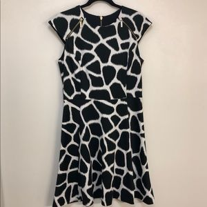 Women's Zip-Trim Giraffe Ponte Dress